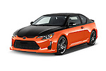 2015 Scion tC Release Series 9.0 2 Door Coupe Angular Front stock photos of front three quarter view
