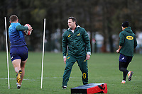 Rassie Erasmus Head Coach of South Africa in action during the South Africa Training Session at The WSC Trefforest Grounds in Trefforest, Wales, UK. Monday 19 November 2018