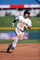Mesa Solar Sox second baseman Elliot Soto (2) running the bases during an Arizona Fall League game against the Glendale Desert Dogs on October 14, 2015 at Sloan Park in Mesa, Arizona.  Glendale defeated Mesa 7-6.  (Mike Janes/Four Seam Images)