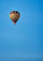 12 June 2021: A Hot Air Balloon flies over the ballpark during a game between the Westfield Starfires and the Vermont Lake Monsters at Centennial Field in Burlington, Vermont. The Lake Monsters defeated the Starfires 4-1 at Centennial Field, in Burlington, Vermont. Mandatory Credit: Ed Wolfstein Photo *** RAW (NEF) Image File Available ***
