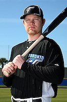 March 1, 2010:  Outfielder Adam Lind (26) of the Toronto Blue Jays poses for a photo during media day at Englebert Complex in Dunedin, FL.  Photo By Mike Janes/Four Seam Images