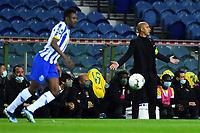 14th March 2021; Dragao Stadium, Porto, Portugal; Portuguese Championship 2020/2021, FC Porto versus Pacos de Ferreira; Paços de Ferreira manager Pepa appeals to the referee