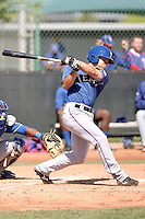 Travis Adair of the Texas Rangers  plays in a minor league spring training game against the Kansas City Royals at the Rangers complex on March 22, 2011  in Surprise, Arizona. .Photo by:  Bill Mitchell/Four Seam Images.