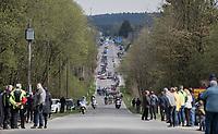 peloton cruising through the Ardennes<br /> <br /> 103rd Liège-Bastogne-Liège 2017 (1.UWT)<br /> One Day Race: Liège › Ans (258km)