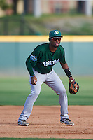 Daytona Tortugas third baseman Ty Washington (3) during a game against the Brevard County Manatees on August 14, 2016 at Space Coast Stadium in Viera, Florida.  Daytona defeated Brevard County 9-3.  (Mike Janes/Four Seam Images)