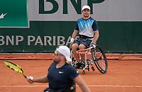 Paris, France, 6 june 2021, Tennis, French Open, Roland Garros, Quad  Wheelchair mens double final:  Sam Schroder (NED) <br /> Photo: tennisimages.com