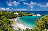 Beautiful day at Hamoa Beach, Hana, Maui, Hawaii.