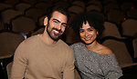 """Nyle DiMarco, making His Broadway Producing debut with Broadway's """"Children Of A Lesser God"""", with lead actress Lauren Ridloff at Studio 54 on January 17, 2018 in New York City."""