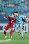 Shanghai FC Midfielder Lin Chuangyi (L) in action against Jiangsu FC Forward Ge Wei (R) during the AFC Champions League 2017 Round of 16 match between Jiangsu FC (CHN) vs Shanghai SIPG FC (CHN) at the Nanjing Olympic Stadium on 31 May 2017 in Nanjing, China. Photo by Marcio Rodrigo Machado / Power Sport Images