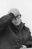 Cesare Zavattini è stato uno sceneggiatore, giornalista, commediografo, scrittore, poeta e pittore italiano. In ambito cinematografico, Zavattini è annoverato tra le figure più rilevanti del neorealismo italiano. Milano, 8 novembre 1983. Photo by Leonardo CendamoGettyimages