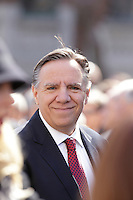 CAQ Leader Francois Legault<br /> attend<br /> the funerals of Jean Lapierre, former politician and media,<br />  April 16, 2016 in Outremont.<br /> <br /> Photo : Pierre Roussel - Agence Quebec Presse<br /> <br /> <br /> <br /> <br /> <br /> <br /> <br /> <br /> .