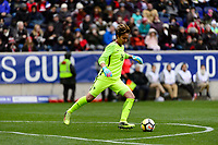 Harrison, NJ - Sunday March 04, 2018: Sarah Bouhaddi during a 2018 SheBelieves Cup match match between the women's national teams of the United States (USA) and France (FRA) at Red Bull Arena.