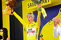 14th July 2021, Muret, France;  POGACAR Tadej (SLO) of UAE TEAM EMIRATES during stage 17 of the 108th edition of the 2021 Tour de France cycling race, a stage of 178,4 kms between Muret and Saint-Lary-Soulan.