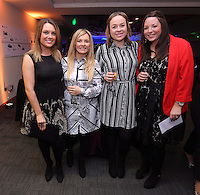 Pictured: Hannah Eames (2nd L) and Rebecca Parry (3rd L)<br /> Re: Swansea City FC Christmas party at the Liberty Stadium, south Wales, UK.