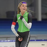 SCHAATSEN: HEERENVEEN, 21-12-2019, IJsstadion Thialf, KNSB Topsporttrainingswedstrijd, Jutta Leerdam, ©foto Martin de Jong