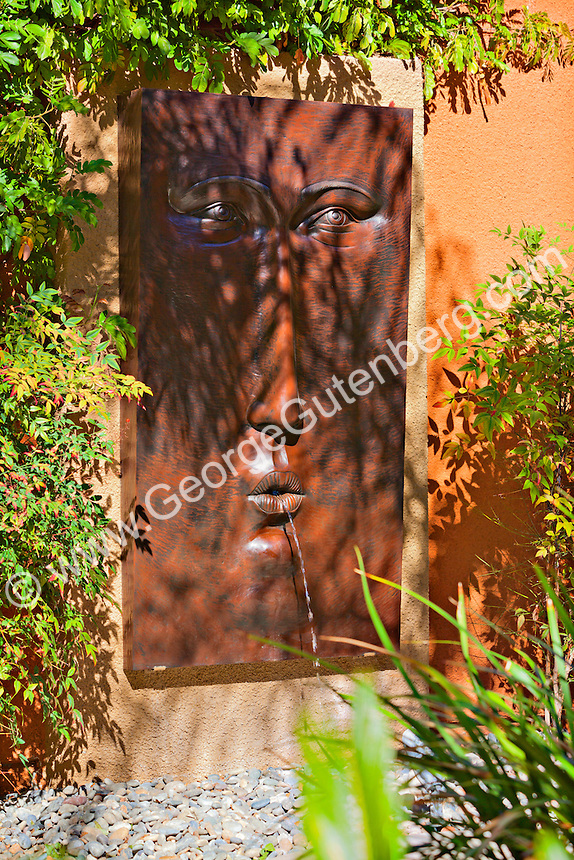 Large exterior wall fountain sculpture