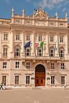 Palace of Lloyd of Trieste on Piazza Unita d'Italia in Trieste, Italy