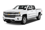 2018 Chevrolet Silverado-1500 High-Country-Crew 4 Door Pickup Angular Front stock photos of front three quarter view