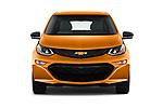 Car photography straight front view of a 2017 Chevrolet Bolt-EV LT 5 Door Hatchback Front View