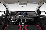 Stock photo of straight dashboard view of 2020 KIA Picanto GT-Line 5 Door Hatchback Dashboard
