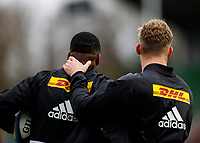 26th December 2020; Twickenham Stoop, London, England; English Premiership Rugby, Harlequins versus Bristol Bears; Team mates Louis Lynagh of Harlequins motivating each other before the game