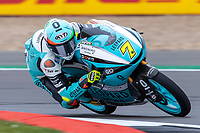 27th August 2021; Silverstone Circuit, Silverstone, Northamptonshire, England; MotoGP British Grand Prix, Practice Day; Leopard Racing rider Dennis Foggia on his Honda NSF250RW in the Moto3 category