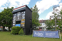 General view of the scoreboard during Finchley CC vs Brondesbury CC (batting), ECB National Club Championship Cricket at Arden Field on 12th May 2019