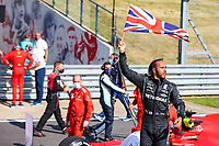 HAMILTON Lewis (gbr), Mercedes AMG F1 GP W12 E Performance, portrait celebrates his win during the Formula 1 Pirelli British Grand Prix 2021, 10th round of the 2021 FIA Formula One World Championship from July 16 to 18, 2021 on the Silverstone Circuit, in Silverstone, United Kingdom - <br /> Formula 1 GP Great Britain Silverstone 18/07/2021<br /> Photo DPPI/Panoramic/Insidefoto <br /> ITALY ONLY