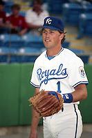 Kansas City Royals Kurt Stillwell (1) during spring training circa 1989 at Baseball City Stadium in Davenport, Florida.  (MJA/Four Seam Images)