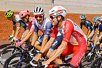 18th July 2021; Paris, France;  WALLAYS Jelle (BEL) of COFIDIS and ARMSTRONG Lance during stage 21 of the 108th edition of the 2021 Tour de France cycling race, the stage of 108,4 kms between Chatou and finish at the Champs Elysees in Paris.