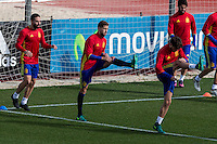 Spainsh Daniel Carvajal, Inigo Martíne during the training of the spanish national football team in the city of football of Las Rozas in Madrid, Spain. November 09, 2016. (ALTERPHOTOS/Rodrigo Jimenez) ///NORTEPHOTO.COM