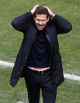 Atletico de Madrid's coach Diego Pablo Cholo Simeone during Spanish Kings Cup semifinal 1st leg match. February 01,2017. (ALTERPHOTOS/Acero)