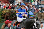 #7 Street Strategy with jockey Calvin Borel aboard before the running of the Rebel Stakes (Grade II) at Oaklawn Park in Hot Springs, Arkansas-USA on March 15, 2014. (Credit Image: © Justin Manning/Eclipse/ZUMAPRESS.com)