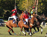 WELLINGTON, FL - NOVEMBER 25:  Mike Azzaro of Team USA (Red) controls the ball, as Team USA defeats Team Brazil, 9 - 7 in the USPA International Cup final, at the Grand Champions Polo Club, on November 25, 2017 in Wellington, Florida. (Photo by Liz Lamont/Eclipse Sportswire/Getty Images)
