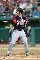 Mike Carp #21 of the Tacoma Rainiers plays in a Pacific Coast League game against the Tucson Padres  at Kino Stadium on June 4, 2011  in Tucson, Arizona. .Photo by:  Bill Mitchell/Four Seam Images.