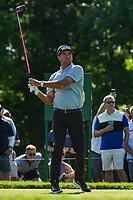 4th June 2021; Dublin, Ohio, USA; Bubba Watson (USA) watches his tee shot on 1 during the Memorial Tournament Rd2 at Muirfield Village Golf Club on June 4, 2021 in Dublin, Ohio.