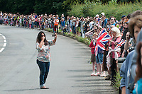 Taking photos before the racers arrived.  Olympics 2012.  Women's cycle road race passes along the Shere bypass, the A25, on it's way to Box Hill and then back to the finish in London.