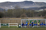 Edinburgh University 3 Selkirk 2, 13/03/2016. Peffermill, Scottish Lowland League. The visiting team's technical area watching Edinburgh University taking on Selkirk in a Scottish Lowland League match at Peffermill, Edinburgh in a game the hosts won 3-2. The match was one of six attended by members of GroundhopUK over the weekend to accommodate groundhoppers, fans who attempt to visit as many football venues as possible. Around 100 fans in two coaches from England participated in the 2016 Lowland League Groundhop and they were joined by other individuals from across the UK which helped boost crowds at the six featured matches. Photo by Colin McPherson.