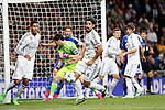 Real Madrid´s Varane, Calillas, Kehedira during Champions League soccer match at Santiago Bernabeu stadium in Madrid, Spain. March, 10, 2015. (ALTERPHOTOS/Caro Marin)