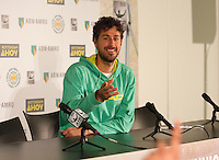 ABN AMRO World Tennis Tournament, Rotterdam, The Netherlands, 15 Februari, 2017, kids pressconference, Robin Haase answers questions<br /> Photo: Henk Koster