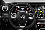 Car pictures of steering wheel view of a 2017 Mercedes Benz E-Class Launch-Edition 5 Door wagon Steering Wheel