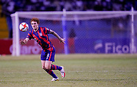 SAN PEDRO SULA, HONDURAS - SEPTEMBER 8: Josh Sargent #9 of the United States get's after a loose ball after a game between Honduras and USMNT at Estadio Olímpico Metropolitano on September 8, 2021 in San Pedro Sula, Honduras.