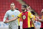 St Johnstone v Partick Thistle…29.10.16..  McDiarmid Park   SPFL<br />Thorston Stuckmann and Adam Barton<br />Picture by Graeme Hart.<br />Copyright Perthshire Picture Agency<br />Tel: 01738 623350  Mobile: 07990 594431