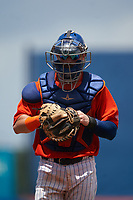 St. Lucie Mets catcher Mitch Ghelfi (11) during a Florida State League game against the Daytona Tortugas on August 11, 2019 at First Data Field in St. Lucie, Florida.  Daytona defeated St. Lucie 7-4.  (Mike Janes/Four Seam Images)