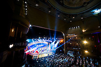 NEW YORK, NY - Sunday February 21, 2016:  Copa America Centenario draw ceremony at the Hammerstein Ballroom in midtown Manhattan, New York City.