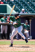 Great Lakes Loons outfielder Andy Pages (44) at bat on May 30, 2021 against the Lansing Lugnuts at Jackson Field in Lansing, Michigan. (Andrew Woolley/Four Seam Images)