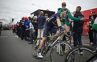 Alejandro Valverde (ESP/Movistar) roles in after finishing 2nd behind race winner Simon Gerrans (AUS/Orica-GreenEDGE)<br /> <br /> Liège-Bastogne-Liège 2014
