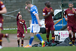 St Johnstone v Motherwell…20.02.16   SPFL   McDiarmid Park, Perth<br />Louis Moult celebrates his goal<br />Picture by Graeme Hart.<br />Copyright Perthshire Picture Agency<br />Tel: 01738 623350  Mobile: 07990 594431