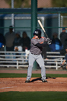 Mason Roach (6) of Covenant Christian Academy in Colleyville, Texas during the Baseball Factory All-America Pre-Season Tournament, powered by Under Armour, on January 13, 2018 at Sloan Park Complex in Mesa, Arizona.  (Mike Janes/Four Seam Images)