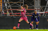Jennifer Marie Jeanne Bouchenna (17) of Sporting Charleroi pictured during a female soccer game between RSC Anderlecht Dames and Sporting Charleroi on the 13 th matchday of the 2020 - 2021 season of Belgian Womens Super League , friday 5 th of February 2021  in Tubize , Belgium . PHOTO SPORTPIX.BE | SPP | DAVID CATRY